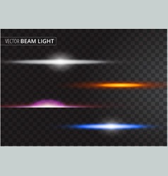 Ufo light beam isolated on transparent background vector