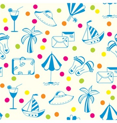 vacation travel pattern vector image