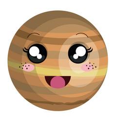 Venus planet kawaii character vector