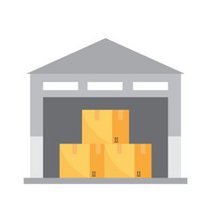 warehouse icon transportation and delivery vector image