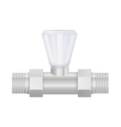 water valve with plastic handle and metal fitting vector image
