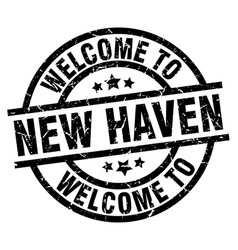 Welcome to new haven black stamp vector