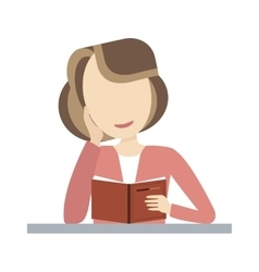 Woman Reading Book vector image