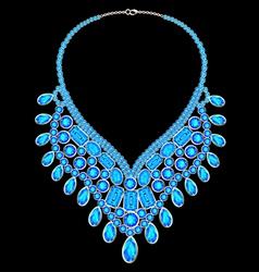 Womans necklace with precious vector