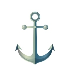 Anchor Isolated on White Made of Metal Device vector image vector image