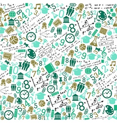 Education icons back to school seamless pattern vector image