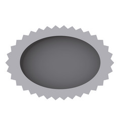 grayscale oval cloud bubble icon vector image vector image