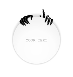 Just zombie hands vector image
