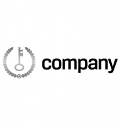 safety key logo vector image