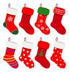 Set of Christmas socks vector image