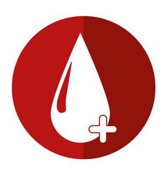 Blood drop donate donor cross shadow vector