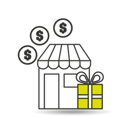 e-commerce store gift money icon vector image vector image