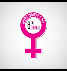happy womens day greeting design with female symbo vector image