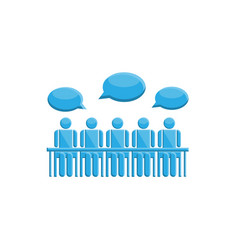 people in meeting communication symbol vector image vector image