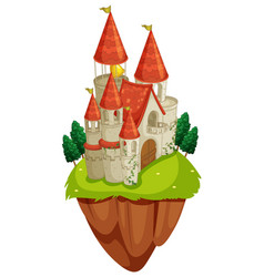 scene with castle towers vector image vector image