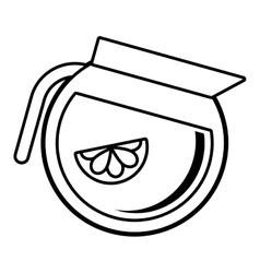 tea citrus fruit beverage icon vector image