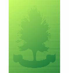 tree and ribbon cutout vector image vector image