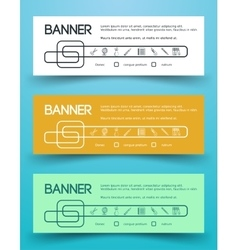 Bright Colorful Banners vector image vector image