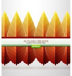 creative autumn background vector image