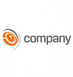 security lock logo vector image vector image