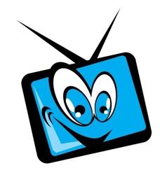 tv set cartoon vector image vector image
