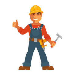 builder or house constructor man profession vector image