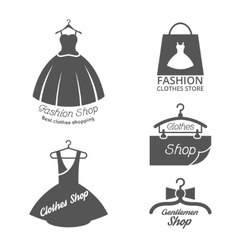 Fashion shop logos labels set vector image vector image