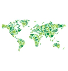 Green concept of World map vector image vector image