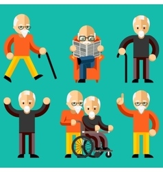 Older people Elderly activity elderly care vector image vector image