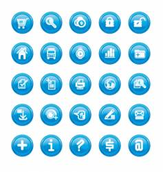 web icons blue gloss vector image