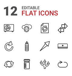 12 refresh icons vector image