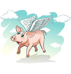 A flying pig vector image