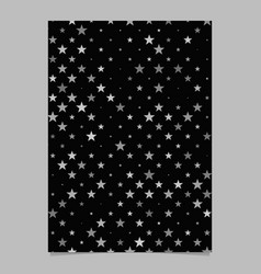 Abstract geometric star pattern background flyer vector