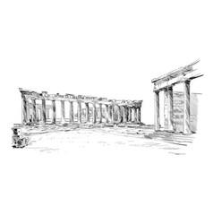 Acropolis athens parthenon athens greece vector
