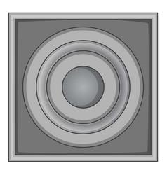 audio speaker icon monochrome vector image