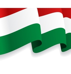 Background with waving hungarian flag vector