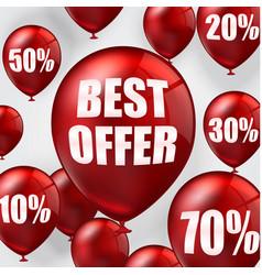best offer balloons vector image