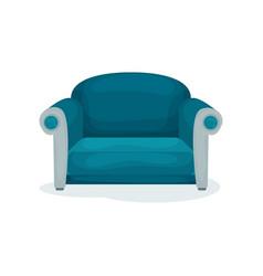 blue sofa living room furniture interior design vector image