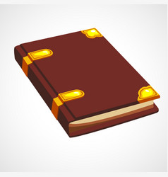 brown cartoon book vector image