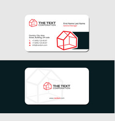 Business card for real estate agency vector