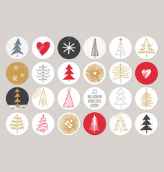 christmas and new year post and stories template vector image