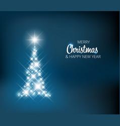 christmas tree made of light vector image