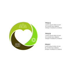 circle heart infographic cycle diagram vector image