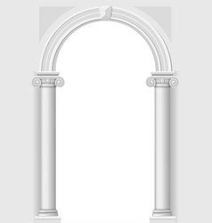 classical white arch vector image
