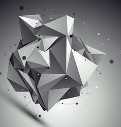 Contemporary asymmetric black and white stylish vector