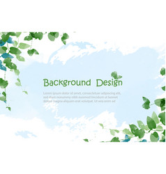 Creative nature background or banner design eps10 vector
