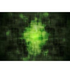 Dark green geometrical background vector image