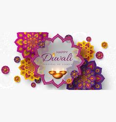 diwali festival holiday design vector image