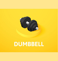 Dumbbell isometric icon isolated on color vector