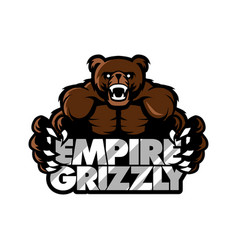 empire grizzly bear sport gaming apparel logo vector image